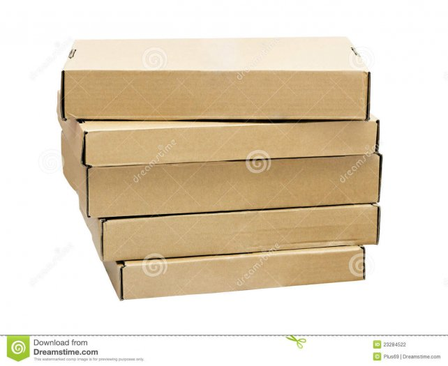 A Stack Of Flat Cardboard Boxes Stock Photography - Image: 23284522