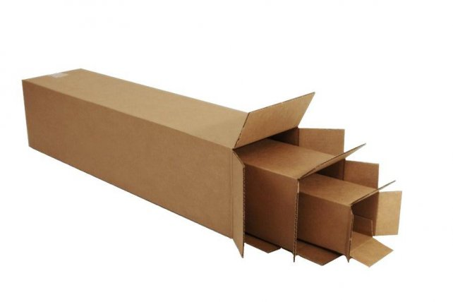 Tall Deep Corrugated Cardboard Boxes Melco Shipping Packaging